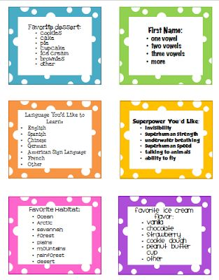 Clever and creative ways to line up your class.  Would be great to have the helper of the day do this.  They would enjoy the choices!