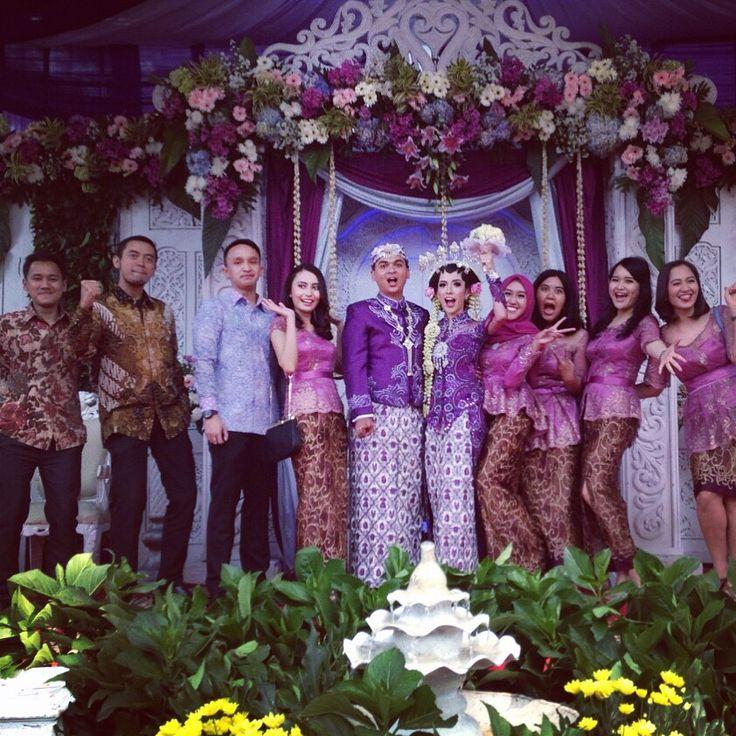 #kebaya #batik #bridesmaid #purple