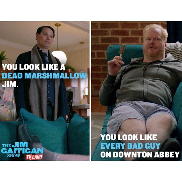 ...a sexy dead marshmallow Downton Abbey guy. Get out of the abbey and watch THE JIM GAFFIGAN SHOW starring Jim Gaffigan. Series premieres on July 15, 2015 at 10/9C on TV Land. Click to watch a sneak preview.