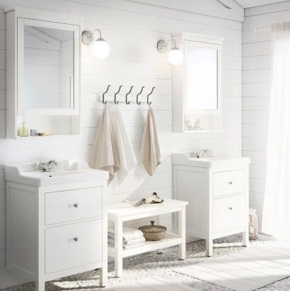 Hemnes bathroom series a traditional approach to a tidy for Ikea hemnes wohnzimmerserie