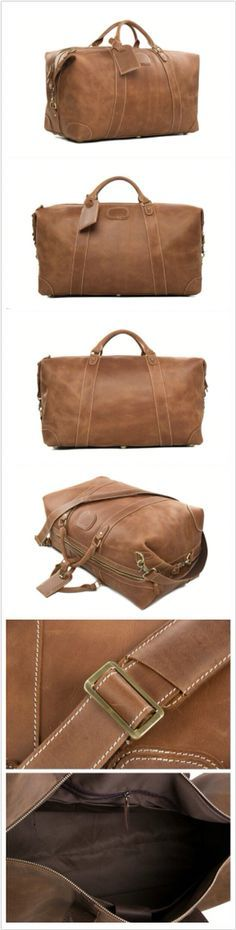 Genuine Leather Travel Bag Men Duffle Bag Large Capacity Gym Bag With Shoulder Strap