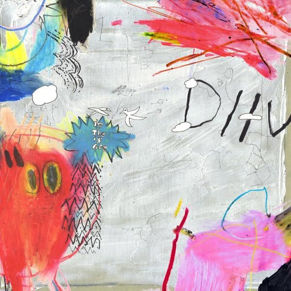 DIIV ‎– Is The Is Are - Clear Transparent Marbled With White & Red   White & Pink Swirls