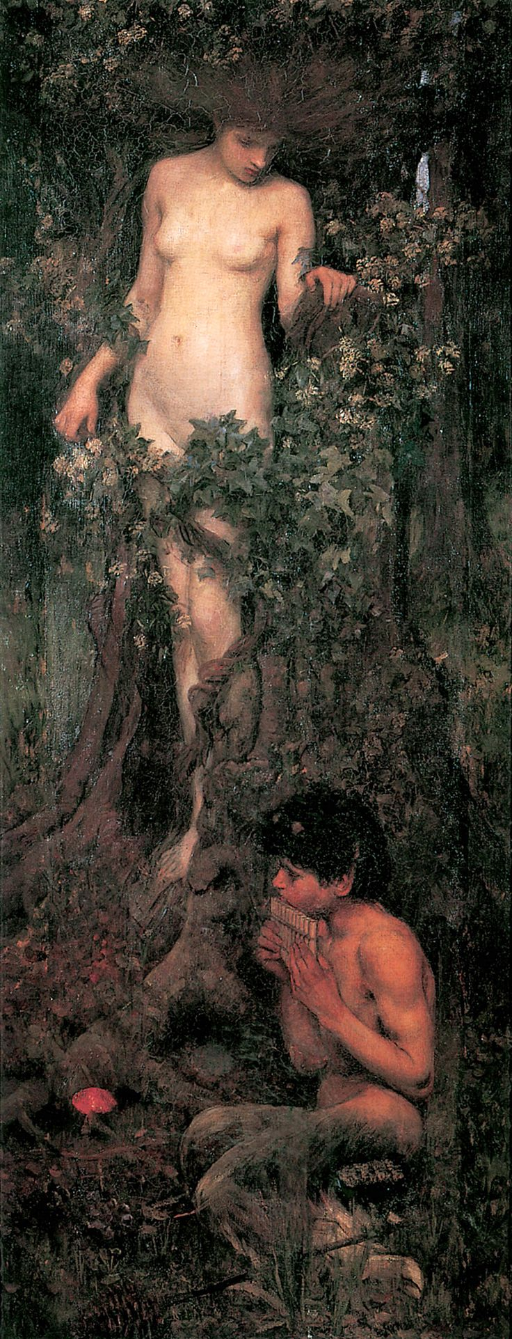 John William Waterhouse (English, 1849-1917). A Hamadryad, 1893