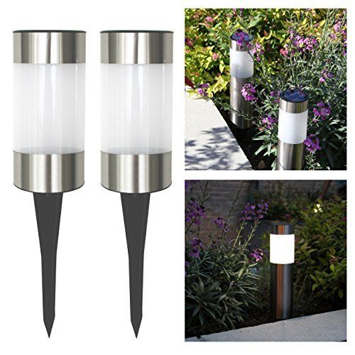 Frostfire Small Solar Post Lights. |  http://landscapeandlighting.net