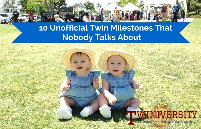 So what about those unofficial twin milestones? The ones that fly under the radar. They might go unnoticed by many, but they are real and they are glorious.