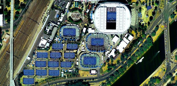 1/31/2015 National Tennis Centre at Melbourne Park Melbourne, Australia 37°49′18″S 144°58′42″E   The National Tennis Centre at Melbourne Park is home to Rod Laver Arena and the Australian Open. Today, in the women's singles final Serena Williams defeated Maria Sharapova. Tomorrow, Novak Djokovic will square off against Andy Murray for the men's championship.