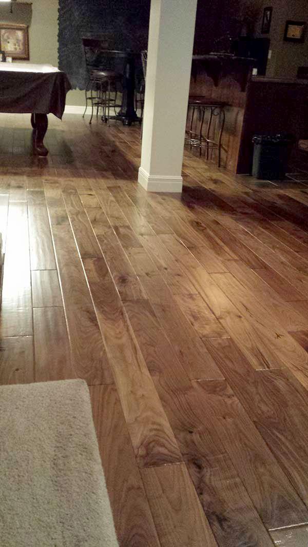 Hallmark Floors Engineered Hardwood Flooring - Heirloom Natural Walnut installation in Shawnee KS. These floors were purchased from Lockwood and installed by the homeowner.