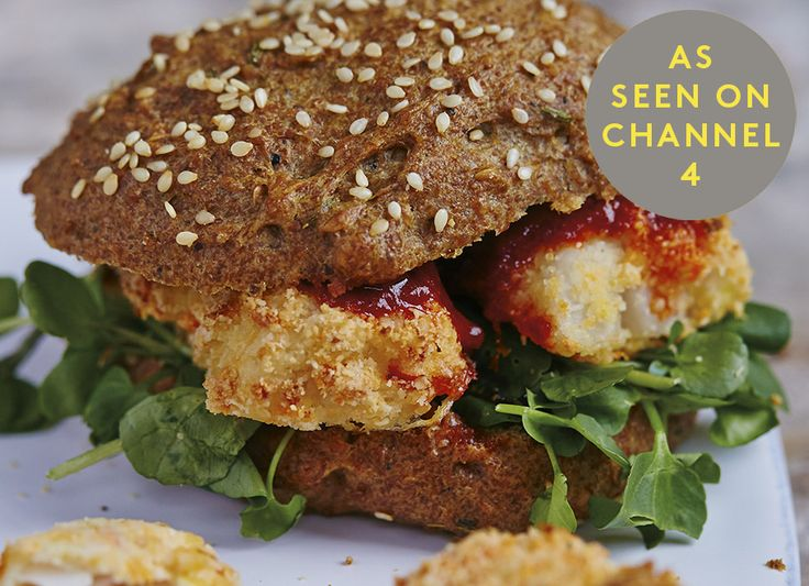 Fish fingers are the ultimate childhood comfort food. We like to eat them in a Flaxseed Bun with a dollop of Homemade Sriracha or Ketchup. We use a firm, white fish and play with the flavours each time. Rosemary, dill and tarragon go supremely well with fish – use dried or chop up fresh and mix into the ground almond mix. From our bestselling second cookbook Good + Simple, which includes recipes from the Channel 4 series Eating Well with Hemsley + Hemsley.