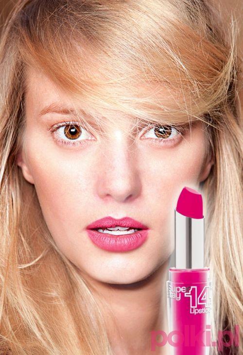 różowe usta, różowa szminka, modny makijaż ust, wisona 2013 róż
