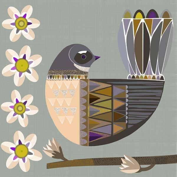 Folk Fantail New Zealand Folk birds series Edition of 45 From NZ$145