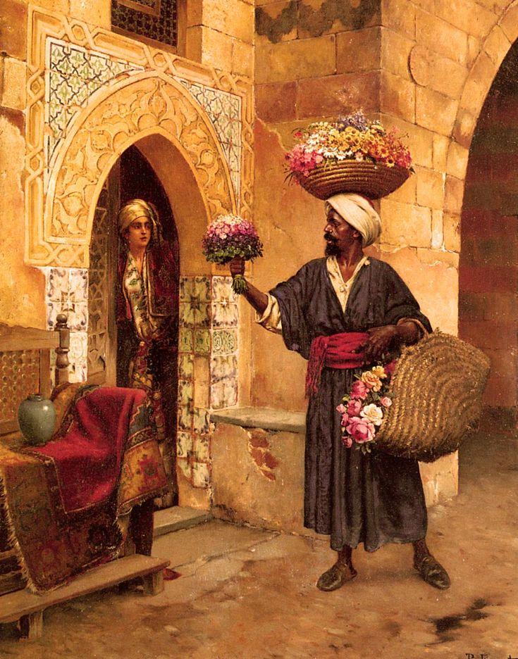 Le Marchand De Fleurs. Rudolphe Ernst.