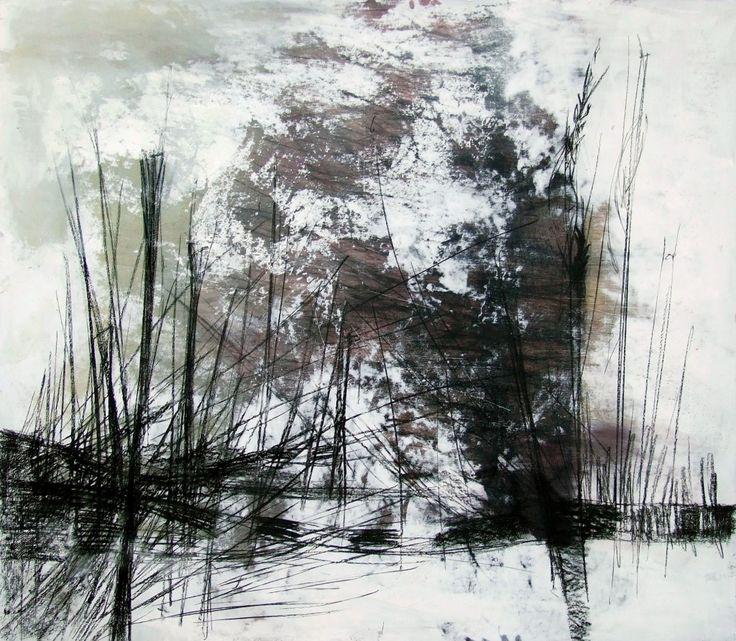 """Spighe III"" Oil on wood - 90x100 cm"