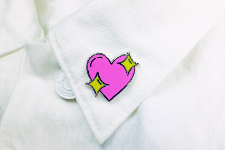 Sparkle Heart Pin - $15.00