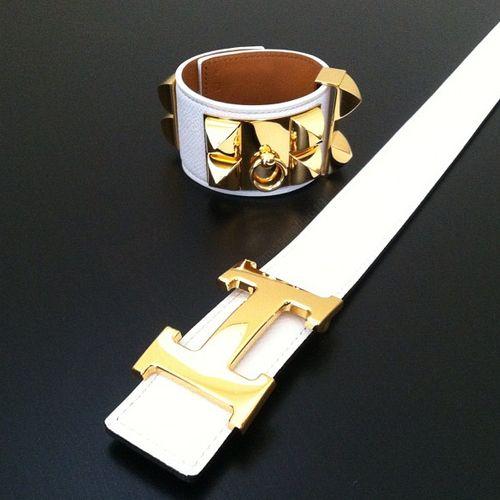 Hermes collier de chien bangle + belt <3