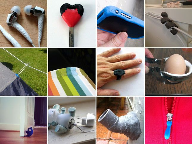 Sugru is like silly putty for adults and has a ton of handy household uses!