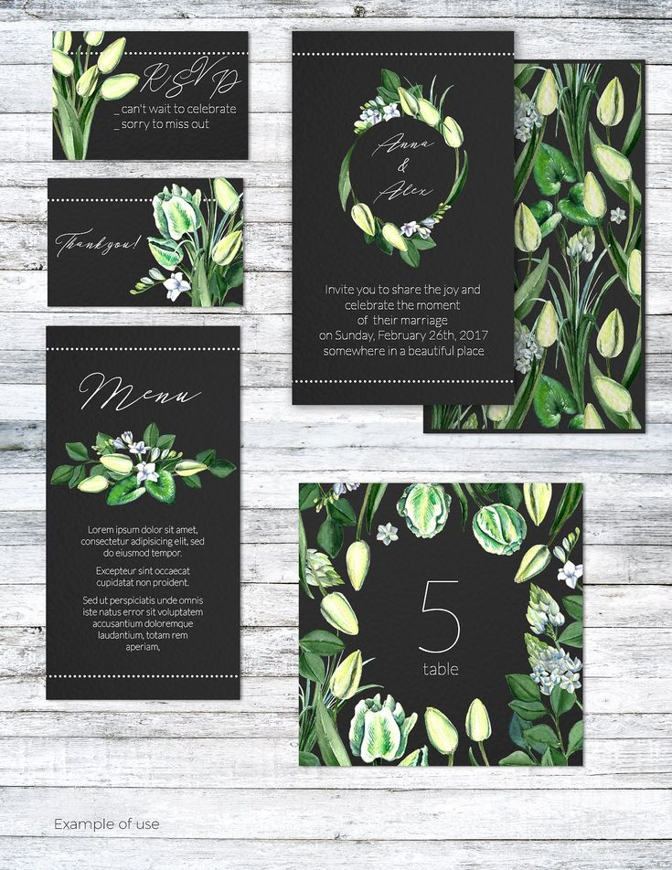 Wedding Watercolor Tulips Set by Anna on @creativemarket