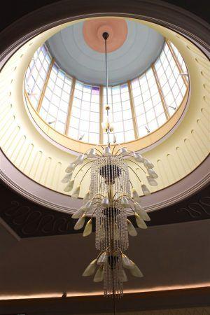 50er Jahre Design im inneren der Marienquelle in Bad Elster