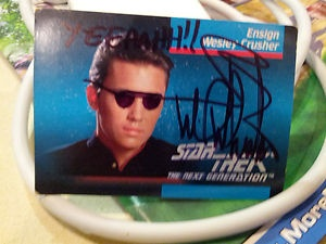 Wesley Crusher Trading Card Ruined and Autographed by Wil Wheaton | eBay