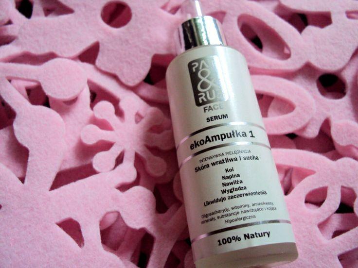 ekoAmpułka 1 - Serum dla Skóry Suchej i Wrażliwej PAT & RUB FACE to nowoczesne, aktywne, naturalne  SERUM, przeznaczone do pielęgnacji wrażliwej i suchej skóry twarzy i szyi.