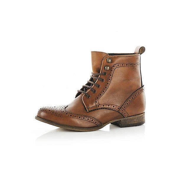 boots - shoes / boots - women - River Island (1.210 ARS) ❤ liked on Polyvore featuring shoes, boots, botas, footwear, river island shoes, river island boots and river island