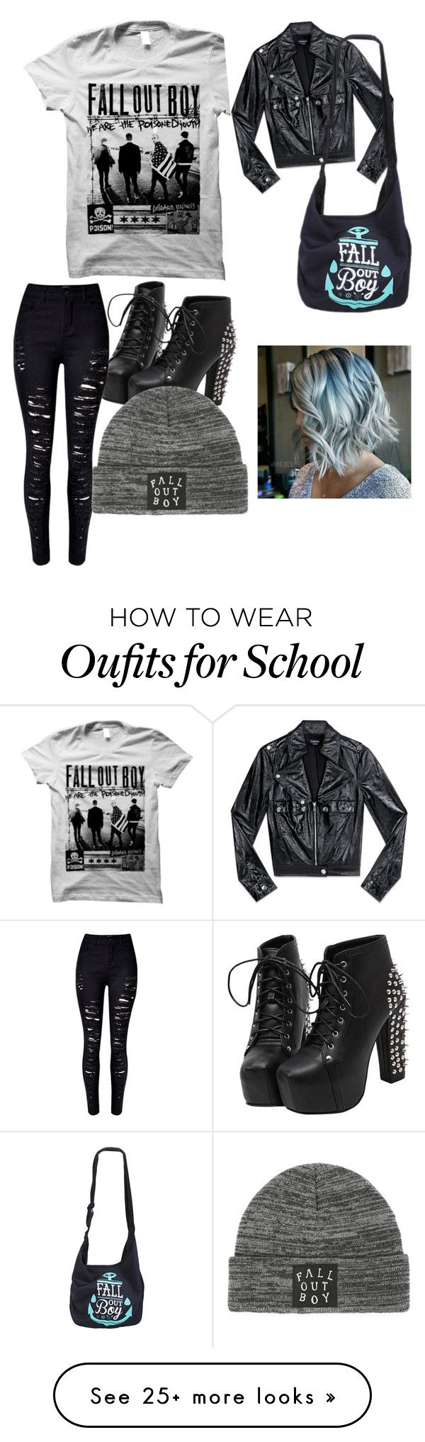 """""""school #3"""" by terresalynne on Polyvore featuring Bebe, WithChic and no"""