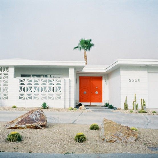 palm springs: Red Doors, Mid Century Modern, Orange Doors, Palm Springs, Dreams House, Front Doors, Palms Spring, Architecture, Midcentury