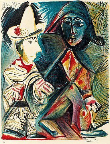 "PABLO PICASSO (Efter), ""Le Clown et l'Harlequin"".. - Vårens Moderna Auktion 555 – Bukowskis"