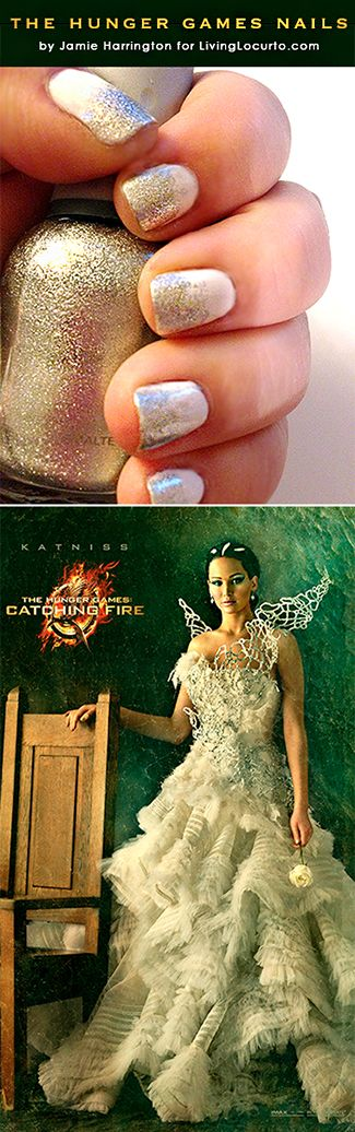 The Hunger Games Nail Art Tutorial Inspired by Katniss Everdeen. Capitol Couture! LivingLocurto.com