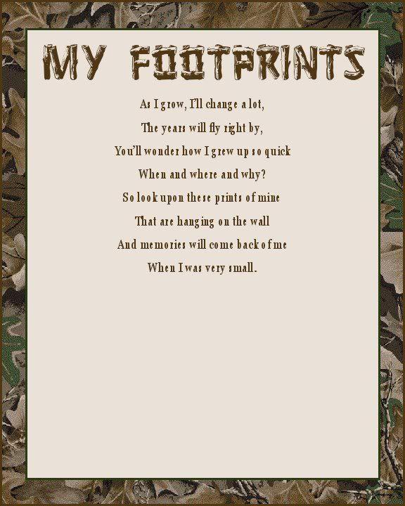 Camo Nursery Wall Decor | Camouflage 8 x 10 Nursery Print My Footprints | eBay