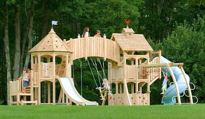 1000 images about casitas infantiles on pinterest minis - Columpios de madera ...