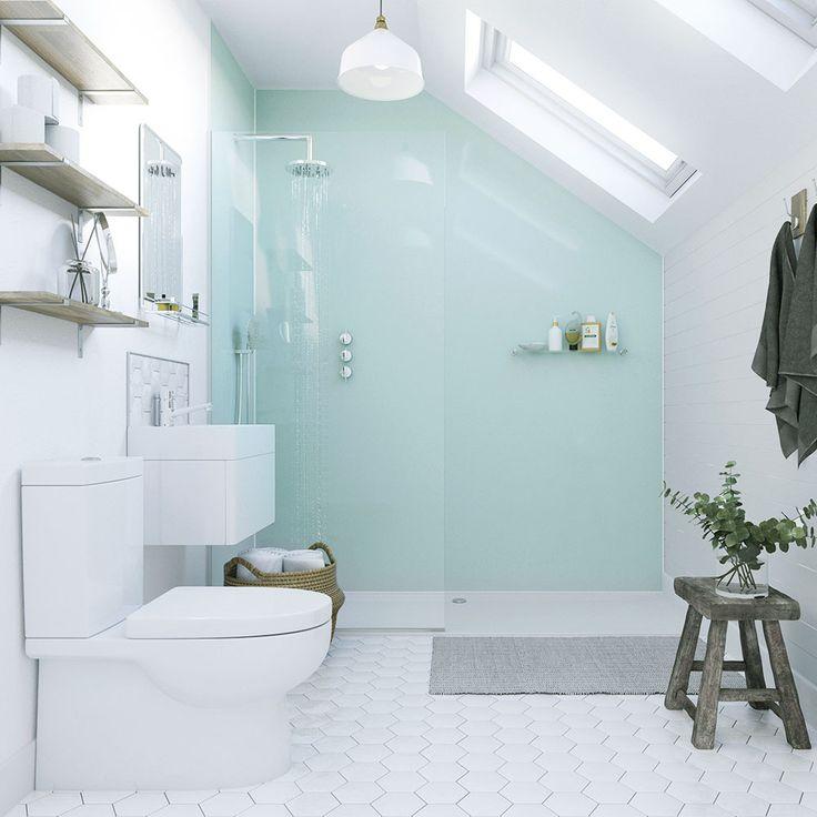showerwall  waterproof decorative wall panel  aqua ice
