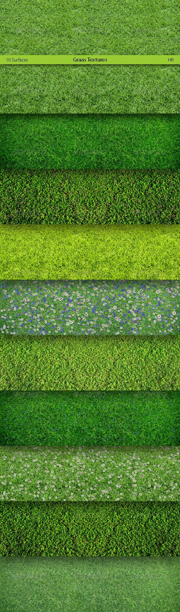 Grass Surfaces Texture Backgrounds: