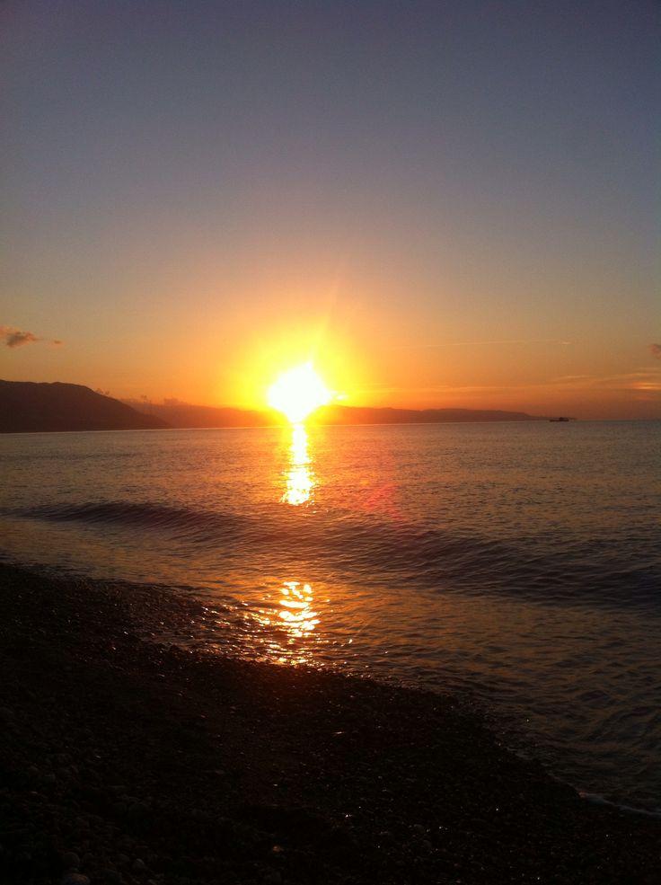 Sunset in Bagnara Calabra, Reggio di Calabria, Italy