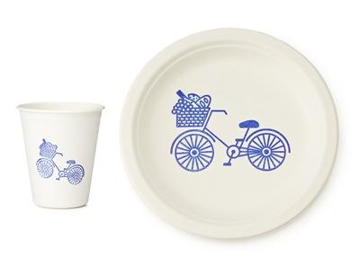 #Bicycle picnic plates. #bikepicnic #velojoy