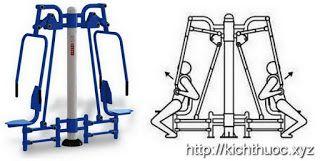 Máy tập đẩy tay push chair