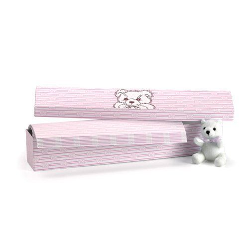 "Scented Drawer Liners in Baby Pink - BONUS TEDDY BEAR INCLUDED by Tai USA by Tai USA. $24.75. Sheet Size: 13""wide x 22""deep. Soft baby pink stripes and teddy bear design. Matching baby pink box with teddy bear print. Subtle baby powder scent. These Baby Series Scented Drawer Liners by Tai USA are a joy to look at and a pleasure to smell. These sweetly designed liners are touched with a lovely baby powder fragrance that is subtle enough for even a newborn's clothes. E..."