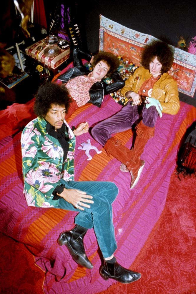 The Jimi Hendrix Experience; Mitch Mitchell, Noel Redding and Jimi Hendrix. Circa 1969