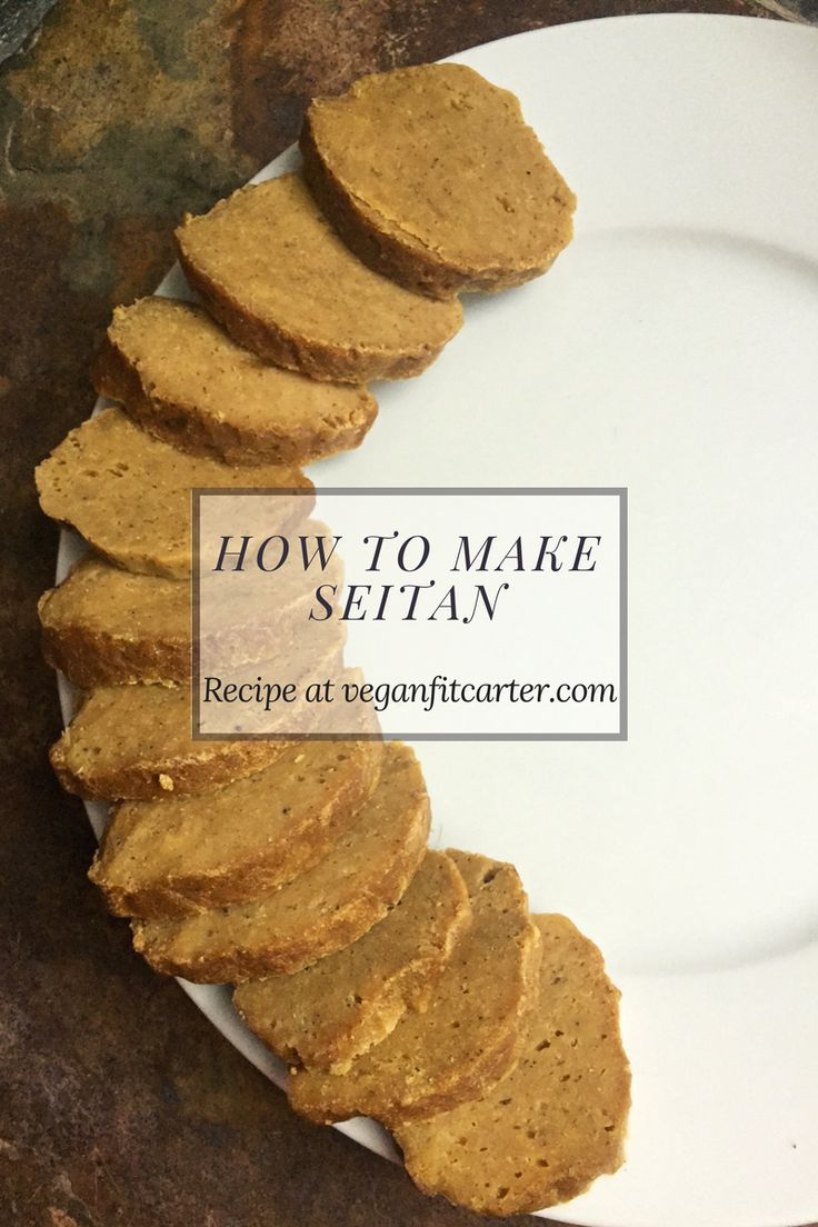 How to Make Seitan meat substitute tutorial pinterest courtesy of Vegan Fit Carter