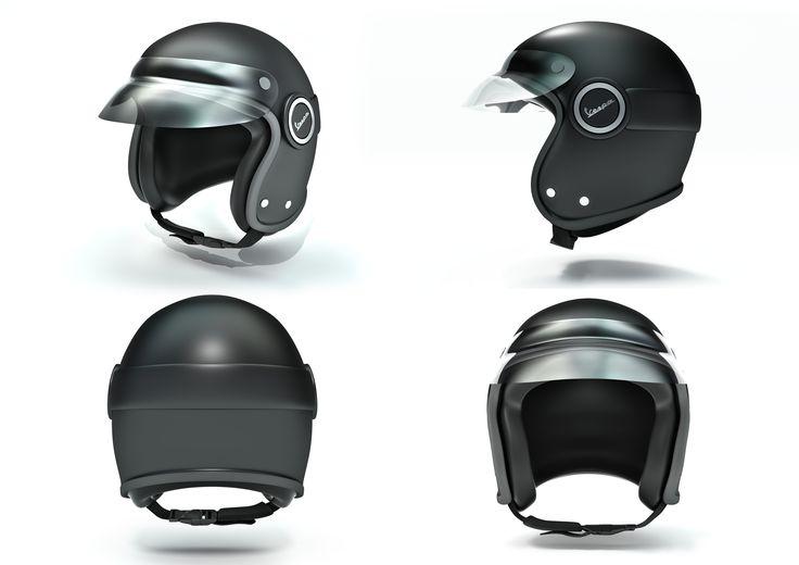 Helmet Vespa Safety Hard Hat 3D Blend - 3D Model