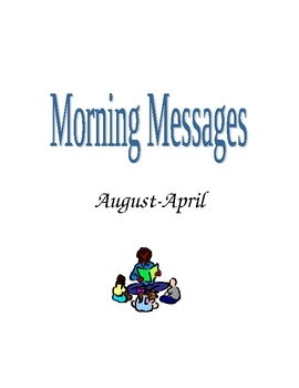 This is a 28 page word document filled with morning message ideas for first grade.  This can be adapted for K or second.  I wrote out each message ...