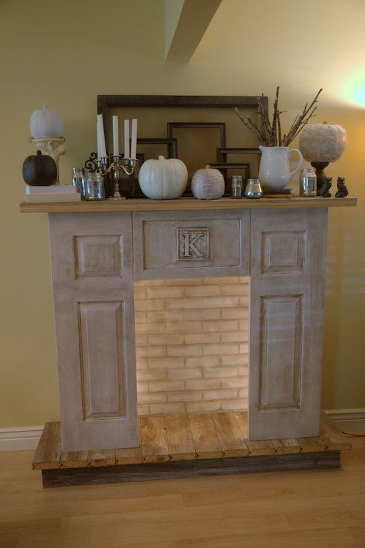 faux fireplace mantle with candles woodworking projects. Black Bedroom Furniture Sets. Home Design Ideas