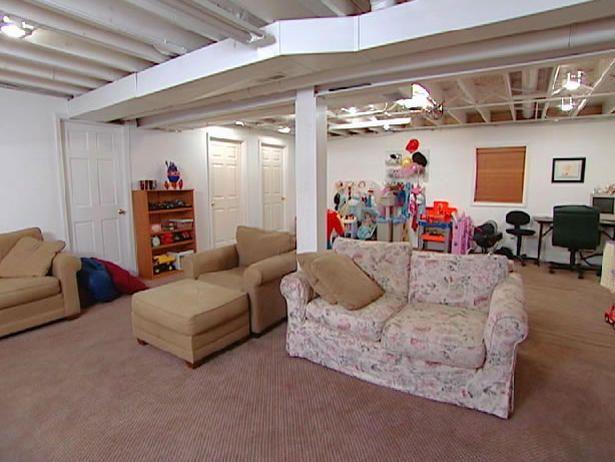 Castle-Inspired Basement (HGTV)  #unfinished_basement_decor  #decorating_an_unfinushed_basement  #basement_decorating