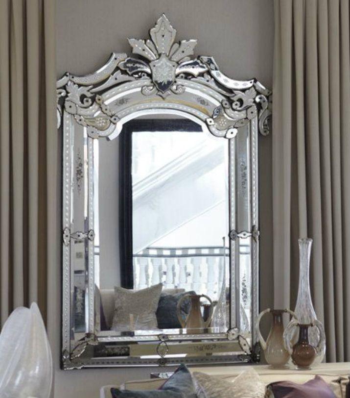 17 meilleures id es propos de miroirs v nitiens sur pinterest miroirs vintage et murs bleu - Miroir ontwerp pour salon ...