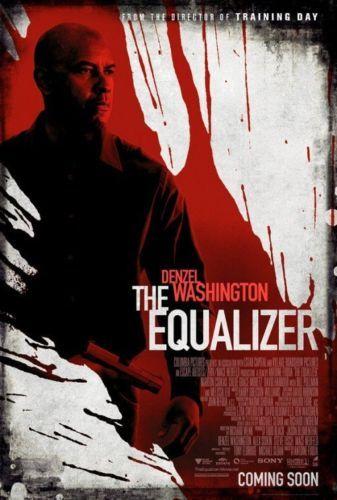 THE EQUALIZER MOVIE POSTER 2 Sided ORIGINAL 27x40 DENZEL WASHINGTON