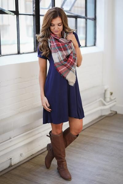 Ready In No Time T-Shirt Dress - Navy