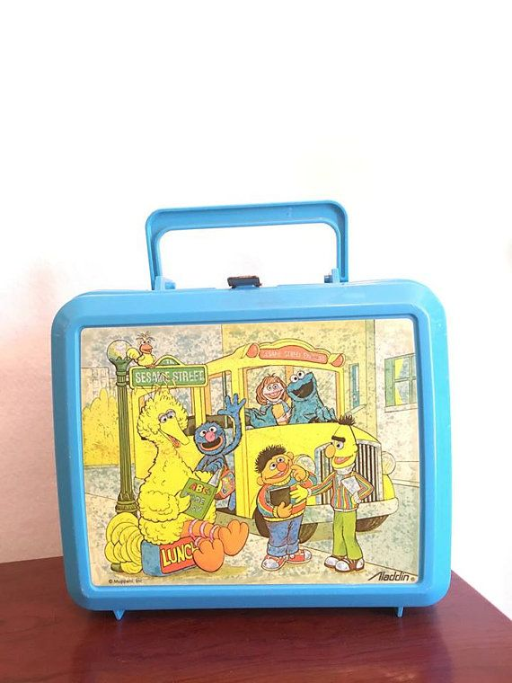 Vintage Sesame Street Aladdin Lunch Box Thermo by OutsideOasis