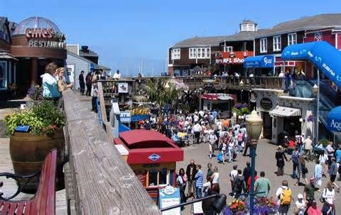 Fisherman's Wharf in San Francisco is best known for being the location of Pier 39, the Cannery Shopping Center, Ghirardelli Square, a Ripley's Believe it or Not museum, the Musée Mécanique, the Wax Museum, the Aquarium of the Bay, and the San Francisco Maritime National Historical Park. Seafood restaurants are aplenty in the area and there is a sea lion colony next to Pier 39. Fisherman's Wharf plays host to many San Francisco events, including a world-class fireworks display for Fourth of…