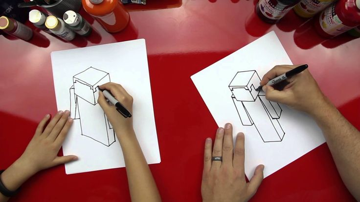 How To Draw Steve From Minecraft- our next art activity for kids