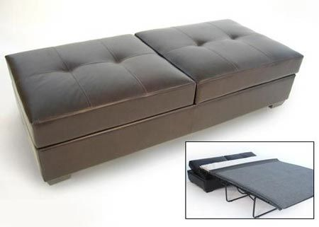 "This take on the traditional sleeper sofa is actually new to us: The double ottoman that converts into a bed. We were barely able to navigate the site where we found this (McLeary's Furniture), but did find a series of ""single"" ottoman sleepers as well:"