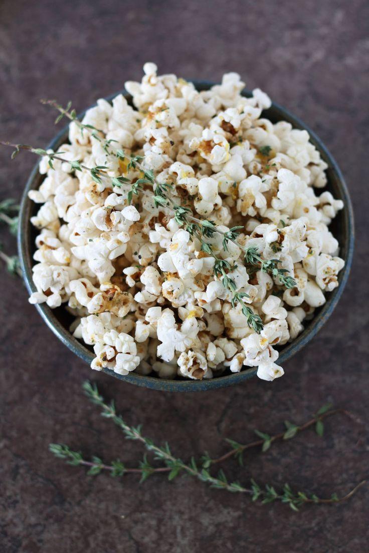 Lemon Thyme Popcorn   Recipe Runner